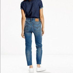 Levi's 501 wedgie dark wash jeans